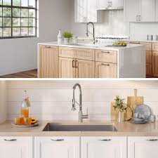 metal kitchen sink and cabinet combo 32 inch kraus khu100 32 1610 53ss set with standart pro