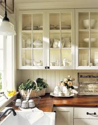 Kitchen Cabinet Glass Doors Bello Cucina White Cabinets Countertop And Wood Countertops