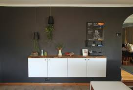 Living Room Buffet Cabinet by Diy Floating Buffet Using Ikea Metod Cabinet Shelterness