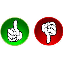 thumbs up thumbs down clipart 131241