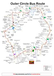 Circle Map Outer Circle Map Outer Circle Bus U2013 Take Your Own Guided Tour