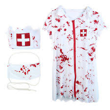 Killer Nurse Halloween Costume Zombie Nurse Costume Ebay