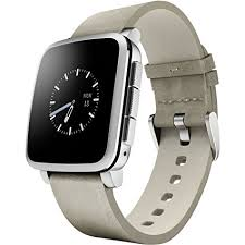 amazon apple watch black friday amazon com pebble time steel smartwatch for apple android devices