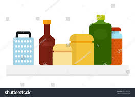 yellow kitchen canisters kitchen jars bottle oil grater bottle stock vector 651586726
