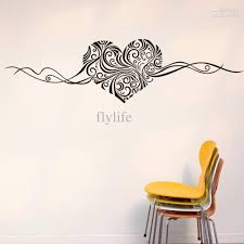Home Wall Decor by Artistic Heart Love Shape Wall Stickers Vinyl Art Home Room Wall