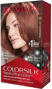 light reddish brown color revlon colorsilk hair color 55 light reddish brown 1 each pack of 5