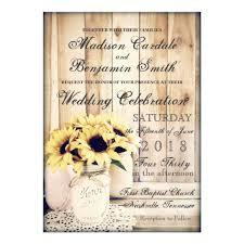 jar wedding invitations rustic country sunflowers jar wedding invite zazzle