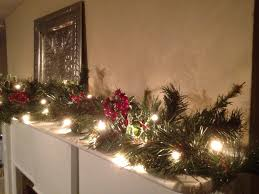 Christmas Garland With Lights by Christmas Mantle Red Berry Garland Christmas Garland Holly
