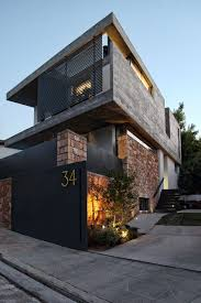 textured front facade modern box home creative ways of designing and displaying house numbers