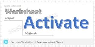 activate worksheet method vba explained with examples