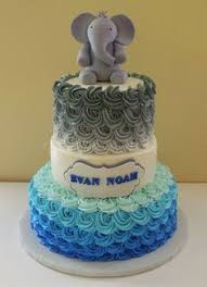 baby shower cakes for boy a baby boy blue and grey baby shower cake based on a design by