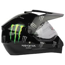 vega motocross helmet replay dash decor monster motocross helmet with clear visor black