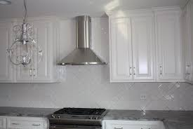 Kitchen Backsplash Glass Tiles Modern White Glass Metal Kitchen Backsplash Tile Throughout