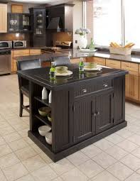 furniture black wooden portable kitchen island with seating with