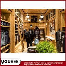Garment Shop Interior Design Ideas China Solid Wood Men Garment Shopfitting Men Clothes Shop