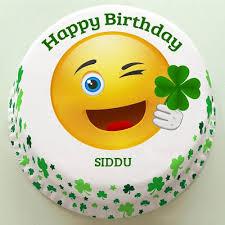 happy birthday cute emoji doodle cake with your name shobana