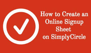 how to create a signup sheet on simplycircle drawing art gallery