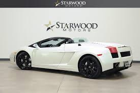 lamborghini gallardo gas mileage used 2007 lamborghini gallardo spyder dallas tx starwood motors