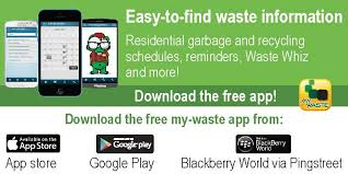 city of kitchener garbage collection mywaste app