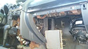 climate control heater core a c evaporator removal nissan