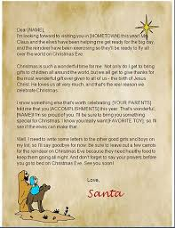 write a letter to the real santa claus letter template
