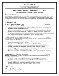 Chef Resume Objective Examples by Outside Sales Resume Examples Outside Sales Representative Resume