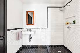 Bathroom With Open Shower An Open Shower A K A No Shower Curtain Bathroom Goals
