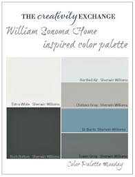 william sonoma home inspired paint color palette color palette