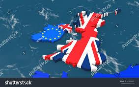 Outside Flag Map Great Britain Outside Europe Ireland Stock Illustration