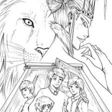 aslan coloring narnia kids drawing coloring pages