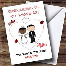 Card From Bride To Groom On Wedding Day Personalised Cards Wedding Day Cards Page 1 The Card Zoo