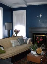 beautiful dark blue wall design ideas paint interior accent