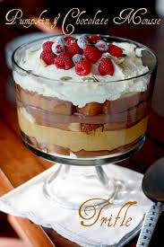 thanksgiving chocolate dessert pumpkin and chocolate mousse trifle yummy mummy kitchen a