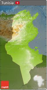tunisia physical map free physical map of tunisia darken