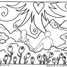 coloring pages adam and eve free coloring adam and eve in the garden of eden coloring pages
