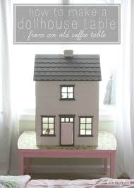 how to make a dollhouse table from an old coffee table house by hoff