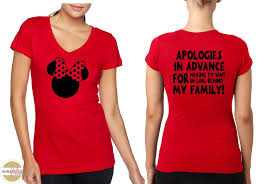 womens disney t shirt minnie and apologies