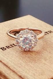 lotus flower engagement ring jewelry 14k gold lotus flower diamond ring 2374007 weddbook
