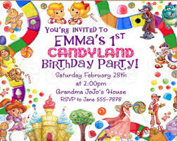 theme invitations candyland invitation etsy