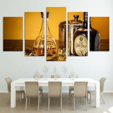 Dining Room Framed Art Cheap Framed Wall Art Black And Gold Color Picture Handmade