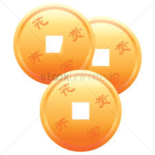 new year coin new year gold coins vector image 1403059 stockunlimited