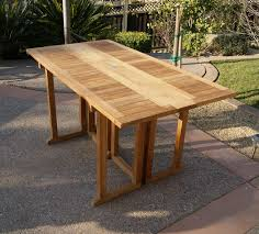 Wood Drop Leaf Table Teak Rectangular Drop Leaf Table