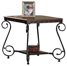 metal frame for table top outstanding bartlett reclaimed wood metal side table pottery barn