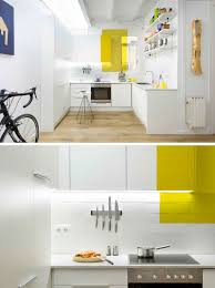 there s random color blocking throughout this otherwise all white all white interiors are a standard choice in contemporary design however too much white and not enough color can make a space feel cold and unwelcoming