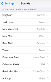 ios iphone disable vibration for all notifications except for
