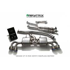 nissan gtr exhaust tips armytrix stainless steel valvetronic catback exhaust system quad