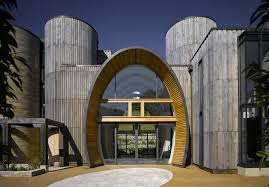 entrance design contemporary countryside home with oval entrance and interior glazing