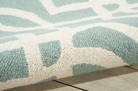 Aqua Runner Rug Linear Lin05 Aqua And Ivory Runner Rug Nourison Rugs Funkyrugs