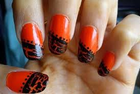 15 halloween black and orange nail art ideas