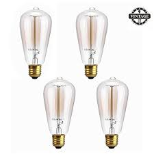 light bulb old style heofean 4 pack vintage light bulb 60w e27 edison bulb st64